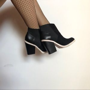 Aldo - White & Black Contrast Ankle Booties (9)